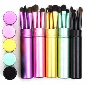 5 Piece Travel Eye Makeup Brush Set